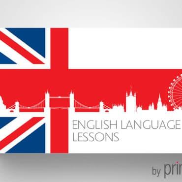 Επαγγελματική κάρτα για μαθήματα αγγλικών