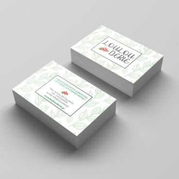 Επαγγελματική κάρτα για ανθοπωλείο