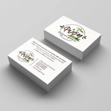 Επαγγελματική κάρτα βιολογικών προϊόντων