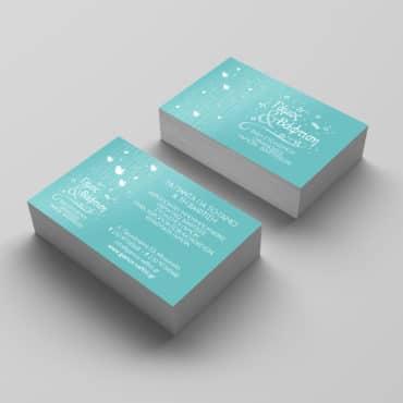 Επαγγελματική κάρτα για γάμους & βαφτίσεις