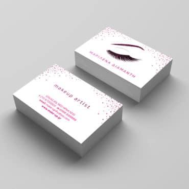 Επαγγελματική κάρτα για makeup artist