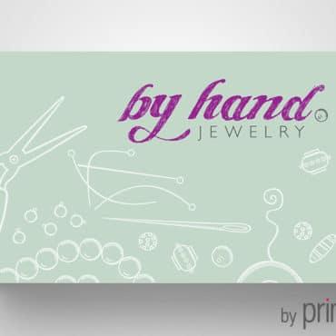 Επαγγελματική κάρτα για κοσμήματα hand made